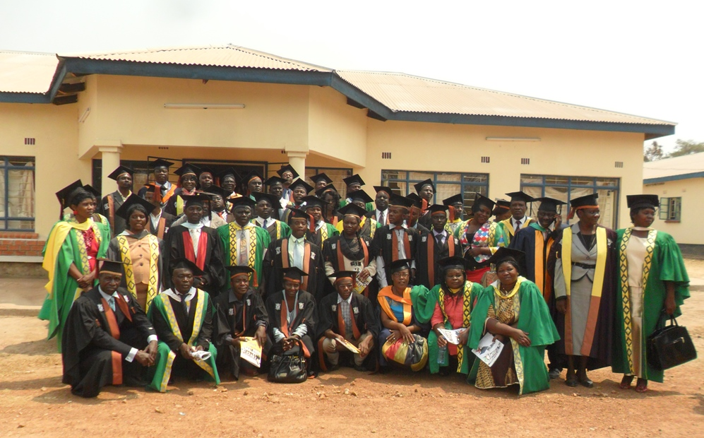 group of graduating students in cap and gown
